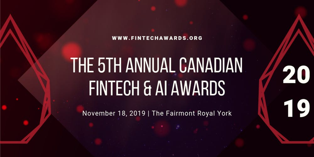 Canadian Fintech and AI Awards 2019