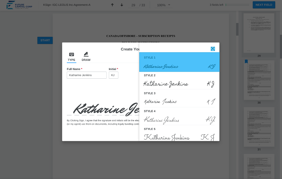 Katipult Standardized Compliance Screenshot
