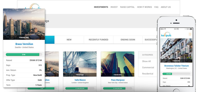 Crowdfund investment offerings online